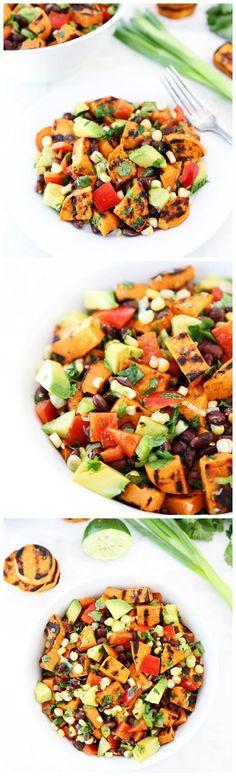 Southwestern Sweet Potato Salad Recipe on twopeasandtheirpod.com Love this potato salad!