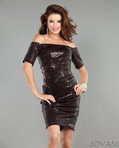 #Sequin #Party #Dress #Style 1525 #Jovani #espresso #guest