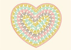 Crochet Heart Chart - the picture of this chart is for sale on etsy but, if you know how to crochet using a diagram, you can use this picture to crochet this heart without buying anything.