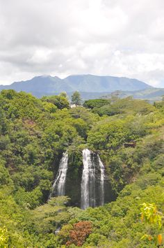beautiful Opaeka'a Falls on the East shore of Kauai. One of the most accessible falls to see on the island. #Hawaii #waterfalls