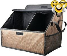 Organizer Foldable Cargo Storage Box Bag #Case Basket with Rope Handles For Car SUV Travel #Vocation Trip Camping Home Toys Fully Collapsible Folding Automotive T...