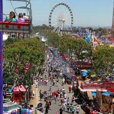 Orange County Fair, Costa Mesa, CA.  HUGE!!  I remember getting soooo sick on the hammer heads ride.