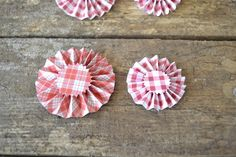 Red and White Gingerbread Themed Rosettes