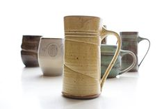 Brobdingnagian Mug in Yellow by IllyriaPottery on Etsy, $28.00