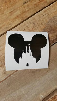 Mickey castle decal, yeti cup decal, decals, vinyl decals, car decals