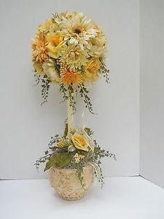 Silk-Flower-Topiary-Floral-Arrangement-Table-Decor