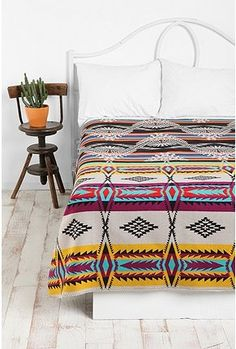 apache blanket. not crazy about these patterns but I think I want one for our bed just to add color! Plus Taylan likes that sort of style.