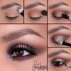 "MotivesCosmetics - New look by @elymarino 1.Begin by applying ""Birch"" onto the brow bone 2.Taking ""Native"" blend in the crease until there are no harsh edges 3.Apply ""Truffle"" to both the inner & outer corners! Blend with a bit of ""Serene"" just to the inner part of the eyes 4.Take ""Bordeaux"" and apply in the crease connecting both corners! Then with a flat brush pat ""shell"" to the center of the lid 5.Line the water with gel liner and smudge ""Bordeaux"" underneath the lower lash line"