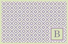 Personalized Disposable PaperPlacematsPlacematColor:Lavender  Mist Letter Color: Lavender Dimensions: 17 x 11 40 SheetsEveryo...