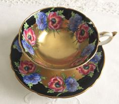 Stunning Poppies Paragon China Tea Cup & by NicerThanNewVintage