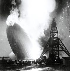 "May 6, 1937: German passenger airship ""Hindenburg"", the largest dirigible ever built, explodes as it arrives in Lakehurst, New Jersey"