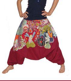 Sarouel boheme hippie fées harem pants pixies de la boutique theparvatishop sur Etsy