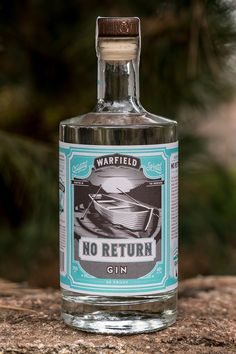 Branding and packaging design for Warfield Distillery & Brewery. Located in the mountains in Idaho's historic ski town, Sun Valley. Bottle Packaging, Brand Packaging, Packaging Design, Label Design, Gin Distillery, Brewery, Craft Beer Brands, Gins Of The World, London Gin