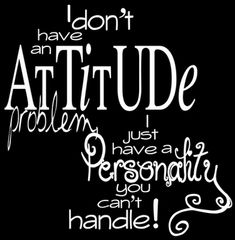 I don't have an attitude problem I just have a personality you cant handle.