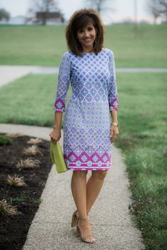 Stitch Fix Printed Dress Perfect for Easter