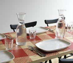 La Petite Bretagne by Paul Crofts Studio .. gingham and lace pattern screen print