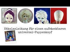 DIY - Elsa Puppe selber häkeln Teil 2: Augen und Gesicht für Häkelpuppen aufsticken - YouTube