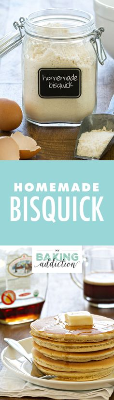 Homemade Bisquick comes together in less than 5 minutes and can be used in any recipe that calls for Bisquick or all-purpose baking mix. So easy!