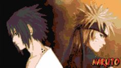is that cross-stich? They got Sasuke and Naruto perfect. Cross Stitch Embroidery, Cross Stitch Patterns, Video Game Anime, Simple Cross Stitch, Naruto, Sasuke, Crafts, Crochet Afghans, Granny Squares