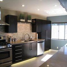 Modern Espresso Cabinets, Modern, kitchen, A.S.D. Interiors
