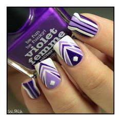 Violet Femme  Wisteria - Picture Polish + Cotton buds - Butter London // Striping tape nails @Elle_Oh_Die