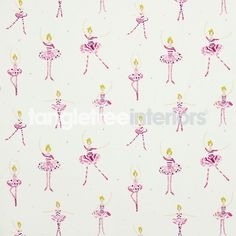 Polly Pirouette (Print) fabric from the What A Hoot collection from Harlequin
