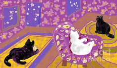 Three Cats by Beebe Barksdale-Bruner