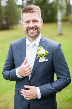 Brudgum, bröllop, sommar, porträtt