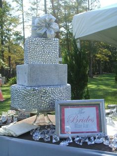 Rhinestone Bling Cake by GiGiNoelle10 on Etsy, $300.00
