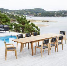 table de coin repas extensible en bois massif et exotique - mobilier en teck