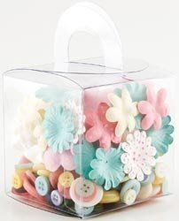 Making Memories Lemonade Blossoms and Buttons 160 Pieces/Boxed, 40 Paper/20 Felt Flowers & 100 Buttons