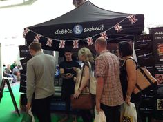 Jonathan tempting the crowds with free tasters of our Harrogate 97% Pork Sausages!
