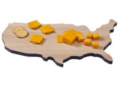 A USA-shaped cheeseboard would make any party fun.