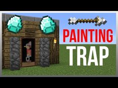 Minecraft 1.9: Redstone Tutorial - Painting Arrow TRAP! - YouTube