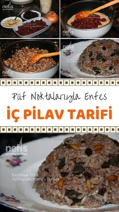Meat Recipes, Snack Recipes, Snacks, Wie Macht Man, Middle Eastern Recipes, Turkish Recipes, Rice Dishes, No Cook Meals, Deserts