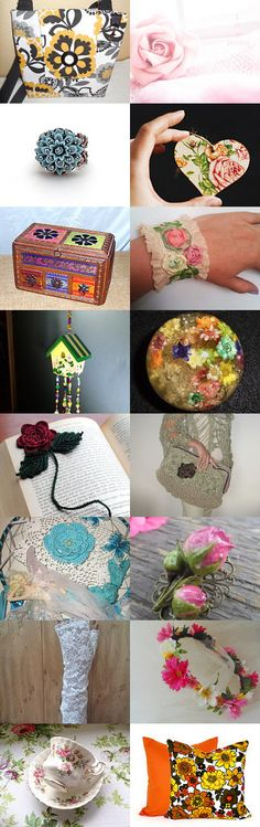 ***There's FLOWERS Everywhere!!!*** by Margie on Etsy--Pinned+with+TreasuryPin.com Needlework, Flowers, Etsy, Sewing, Couture, Handarbeit, Embroidery, Needlepoint, Flower