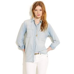 Madewell Perfect Chambray Ex-Boyfriend Shirt l wantering.com