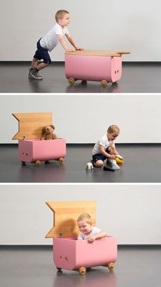 This Modern Kids Furniture Collection Was Inspired By Farm Animals - design & crafts_kid's room - Kinder Modern Kids Furniture, Kids Bedroom Furniture, Bench Furniture, Baby Furniture, Plywood Furniture, Repurposed Furniture, Furniture Plans, Furniture Makeover, Furniture Design
