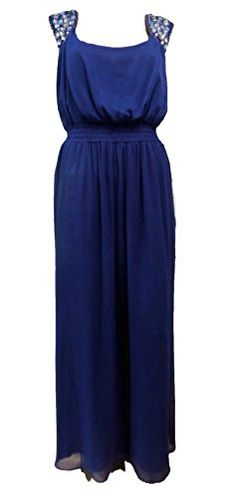 d896f64bc Ex Ann Harvey Plus Size Chiffon Lined Long Maxi Evening Dress Blue or Red:  Amazon.co.uk: Clothing