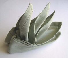 Origami-napkin folding...3 shapes: bird of paradise, bishop's hat, pyramid...