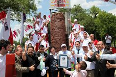 largest turkish doner kebab in the world, made it to the gluiness book of world records. stood 5 meters high and weighed 1.2 tonnes.