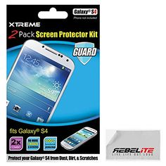 Rebelite High Definition Screen Protector for Samsung Galaxy S4 w/ Smudge & Scratch Resistant & Ultra Clear Material (2-Pack)