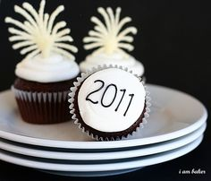 2011 New Years Fireworks Cupcakes