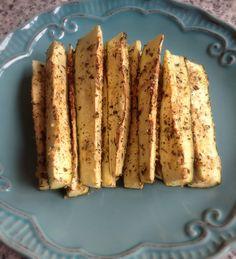 Bastones de Zucchini con Parmesano y Hierbas, muy sanos van al horno. www.lavidaesdulce.net