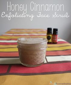 Honey Cinnamon Face Exfoliator/ Scrub... this site has lots of other great diy recipes too!