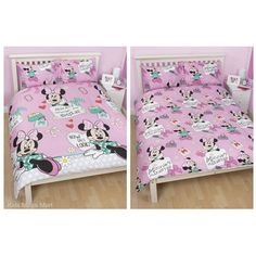 Minnie Mouse Makeover Single or Double Doona and Pillowcase Set  - Available at Kids Mega Mart shop Australia.