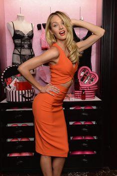 Candice Swanepoel celebrates Bombshell's Day.