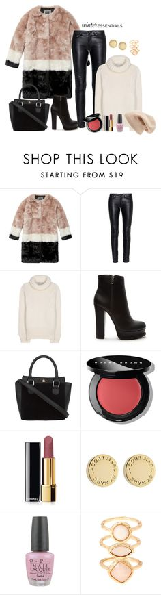 """""""Winter essentials"""" by anchilly23 ❤ liked on Polyvore featuring Maison Scotch, Yves Saint Laurent, STELLA McCARTNEY, Forever 21, Bobbi Brown Cosmetics, Chanel, Marc by Marc Jacobs, OPI, Monsoon and Sole Society"""