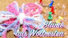 Blume aus Wollresten basteln -OHNE Stricken, Häkeln, usw. - Basics - Upcycling Wolle - ganz einfach - Anleitung - Basics, Hacks & Simplify | Ich mach jetzt...