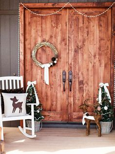 15 Festive Ways to Decorate Your Front Door via Brit + Co.